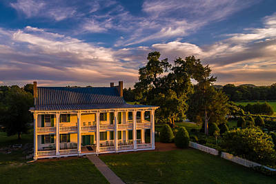 Historic Franklin Tennessee Photograph - Carnton At Sunset by Ken Everett