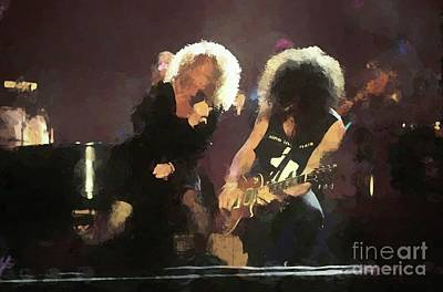 Slash Photograph - Carol King And Slash Painting by Concert Photos
