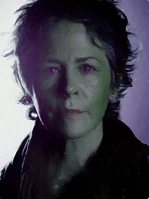 Photograph - Carol Peletier Painted Portrait by Ericamaxine Price