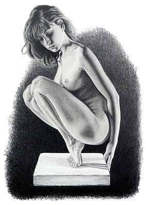 Drawing - Carole  Original On Sale by Joseph Ogle
