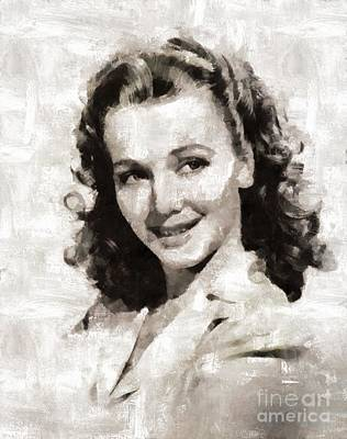Elvis Presley Painting - Carole Landis, Actress by Mary Bassett