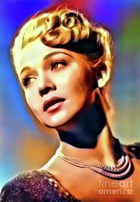 Singer Digital Art - Carole Landis, Vintage Actress. Digital Art By Mb by Mary Bassett