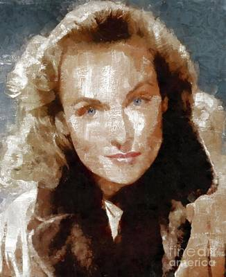Musician Royalty-Free and Rights-Managed Images - Carole Lombard by Mary Bassett by Mary Bassett