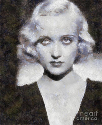 Carole Lombard Painting - Carole Lombard By Sarah Kirk by Sarah Kirk