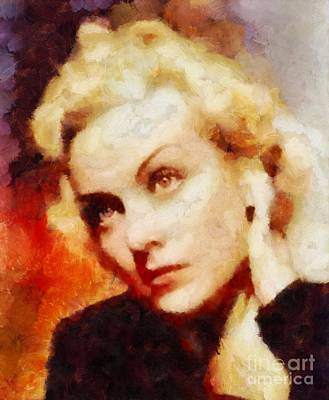 Carole Lombard Painting - Carole Lombard Hollywood Actress by Sarah Kirk