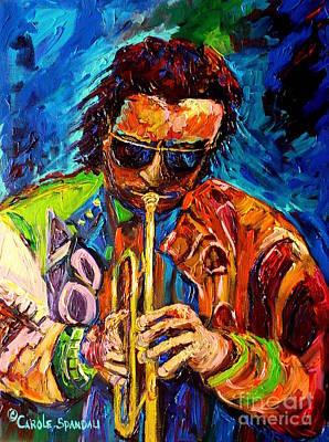 Jazzman Painting - Carole Spandau Paints Miles Davis And Other Hot Jazz Portraits For You by Carole Spandau