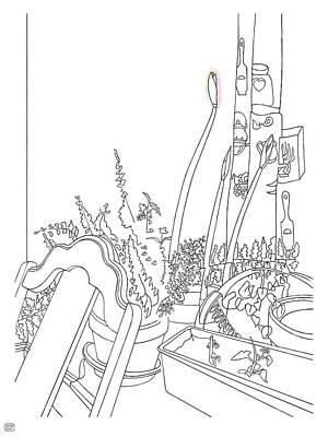 Drawing - Carolina Amaryllises by Stan  Magnan