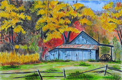 Painting - Carolina Barn by John W Walker