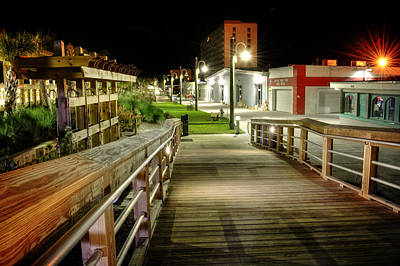 Carolina Beach Photograph - Carolina Beach Boardwalk Ramp by Greg Mimbs