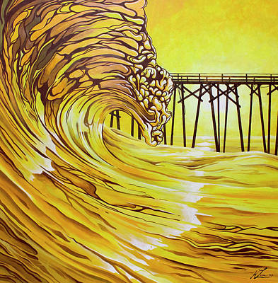 Painting - Carolina Beach North End Pier by William Love