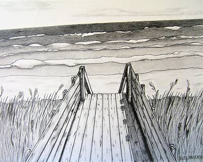 Beach Landscape Drawing - Carolina Beach by Ralph Blankenship