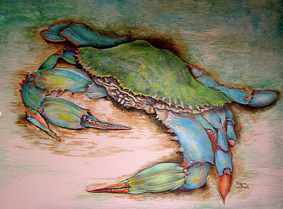 Painting - Carolina Blue Crab by Virginia Bond