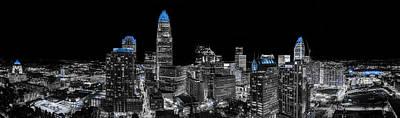 Carolina Blue - Uptown Pano Blue Art Print by Chris Austin