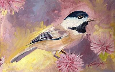 Painting - Carolina Chickadee by Victor Cuya