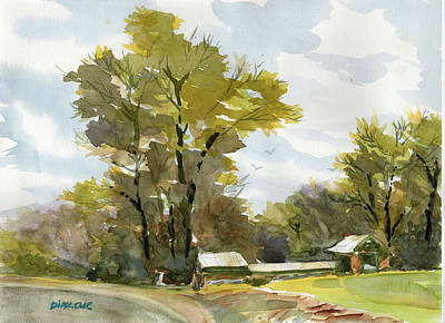 Painting - Carolina Farm Field by Dick Dee