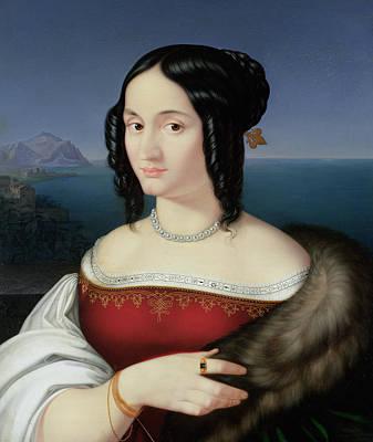 Fine Art Jewelry Painting - Carolina Grossi by Peter von Cornelius