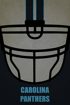 Football Painting - Carolina Panthers Helmet Art by Joe Hamilton