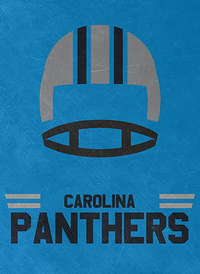 Mixed Media - Carolina Panthers Vintage Art by Joe Hamilton
