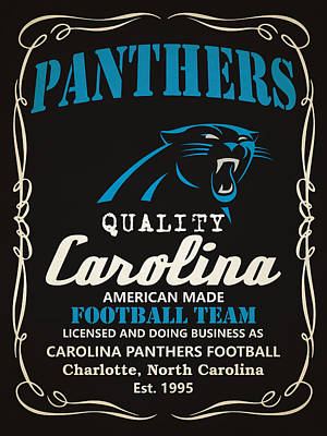 Painting - Carolina Panthers Whiskey by Joe Hamilton