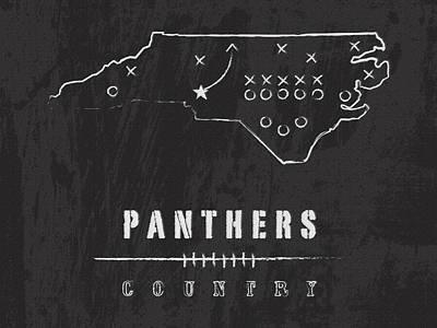 Carolina Panthers Art - Nfl Football Wall Print Art Print by Damon Gray