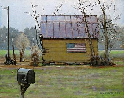 Rustic Barn Painting - Carolina Patriot by Doug Strickland