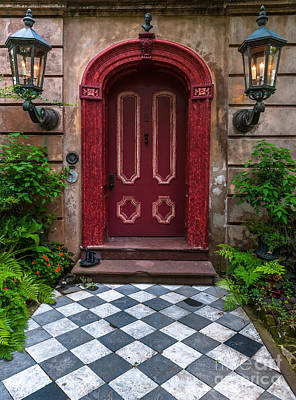 Photograph - Carolina Red Door by Dale Powell