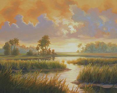 Wall Art - Painting - Carolina Sunrise by Guy Crittenden