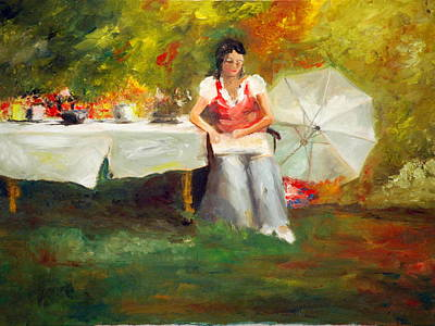 Painting - Carolina Tea by Phil Burton