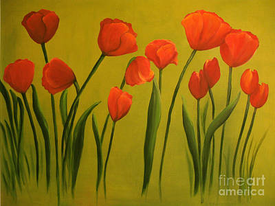 Painting - Carolina Tulips by Carol Sweetwood