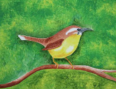 Carolina Wren Painting - Carolina Wren by Carmen Pinckney