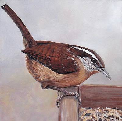 Painting - Carolina Wren by Charlotte Yealey