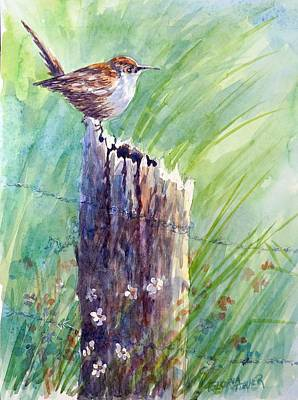 Painting - Carolina Wren by Gloria Turner
