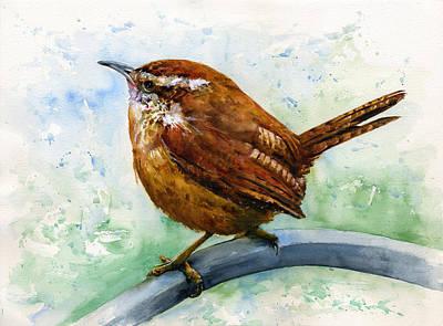 John Benson Painting - Carolina Wren Large by John D Benson