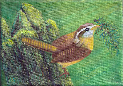 Painting - Carolina Wren Springtime by Fran Brooks