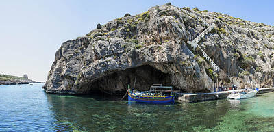 Maltese Photograph - Caroline Cave And Maltese Traditional Boat by Focus  Fotos