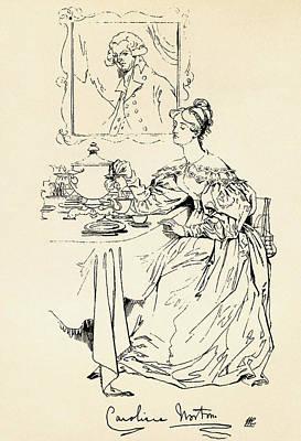 Norton Drawing - Caroline Elizabeth Sarah Norton, 1808 by Vintage Design Pics