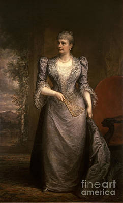 First Lady Photograph - Caroline Harrison, First Lady by Science Source