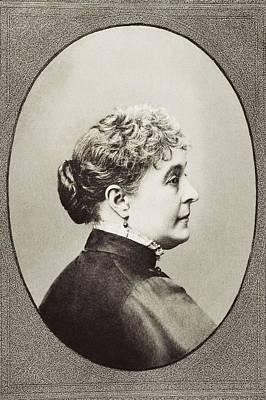 First-lady Drawing - Caroline Lavinia Scott Harrison Known by Vintage Design Pics