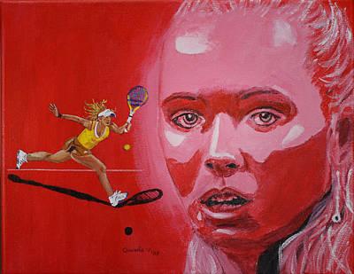 Painting - Caroline Wozniacki by Quwatha Valentine
