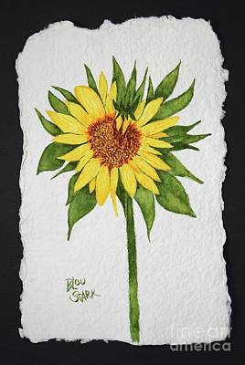 Painting - Carol's Sunflower  by Barrie Stark