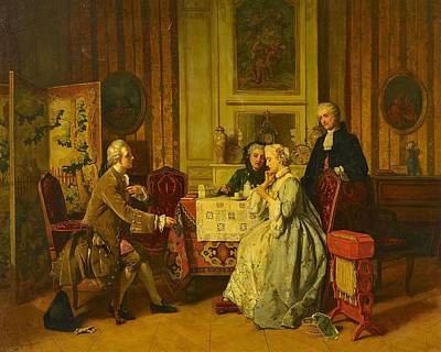 Blue Hues - CAROLUS, JEAN Belgium, 2nd half of the 19th century, The Proposal by Carolus