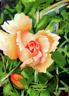Hawaii Painting - Carolyn Quinn's Rose by Richard Rochkovsky