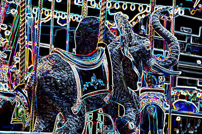 Photograph - Carosel Dream Elephant by Lesa Fine