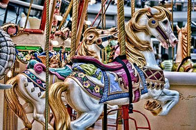 Photograph - Carousel Dream - Horses by Lesa Fine