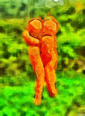 Carots In Love - Pa Art Print by Leonardo Digenio