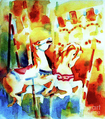 Merry-go-round Painting - Carousal 4 by Kathy Braud