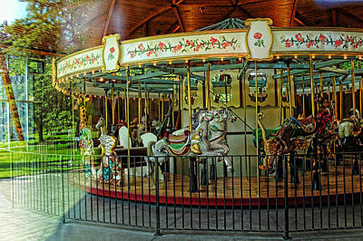 Photograph - Carousel 1 Butchart Gardens by Lawrence Christopher