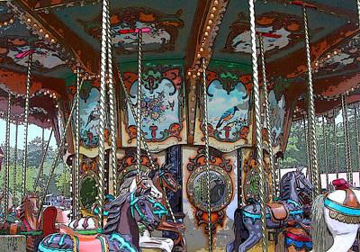 Photograph - Carousel 2 by Anne Cameron Cutri