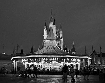 Photograph - Carousel And Castle After Dark by Carol Bradley