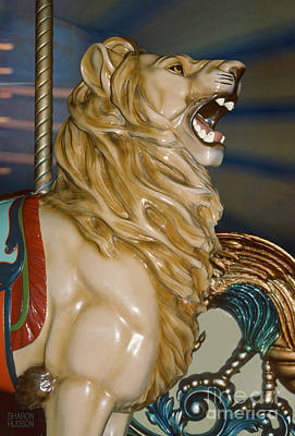 Photograph - carousel animals photography - Carousel Lion by Sharon Hudson